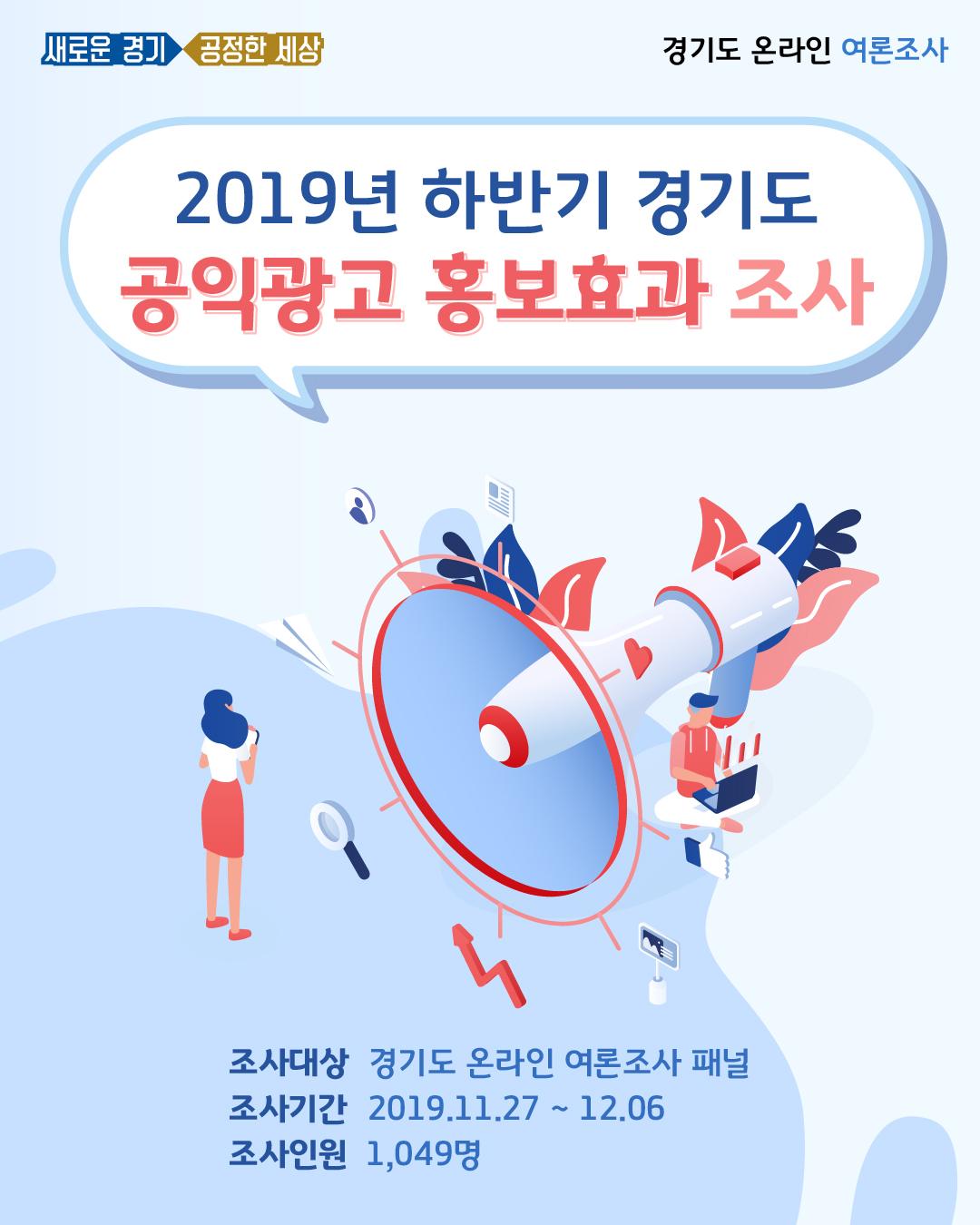 2019년 하반기 경기도 공익광고 홍보효과 조사